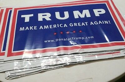 Trump for President Official 2016 Primary Campaign Yard Signs Original MAGA !