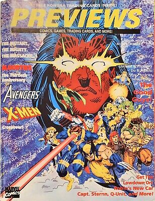 1993 Preview Issue July Bloodties Xmen Avengers Crossover