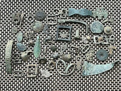 Lot Of 50 Ancient Roman And Byzantine Bronze Artifacts And Fragments
