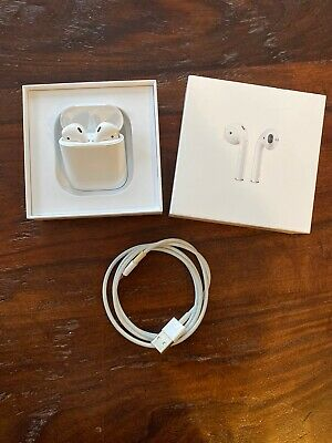 Apple AirPods (A2031, A2032) 2nd Generation with Charging Case (A1602) - White