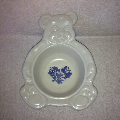Pfaltzgraff Stoneware Yorktowne Child's Teddy Bear Soup/Cereal Bowl Dish