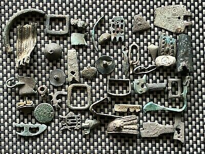 Lot Of 40 Ancient Roman And Byzantine Bronze Artifacts And Fragments
