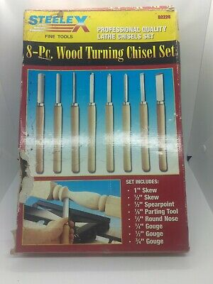Steelex D2228 8 pc. Lathe Wood Turning Chisel Set