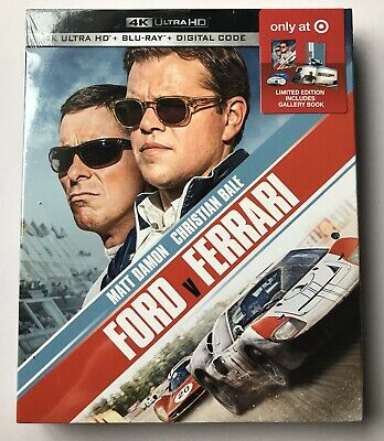 NIB Ford V Ferrari 4K Ultra HD + Blu-Ray + Digital Limited Edition