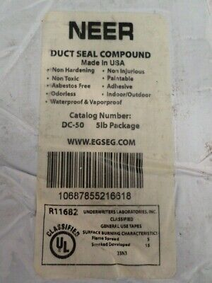 15 lbs Neer Duct Sealing Compound 3 - 5lb Bricks