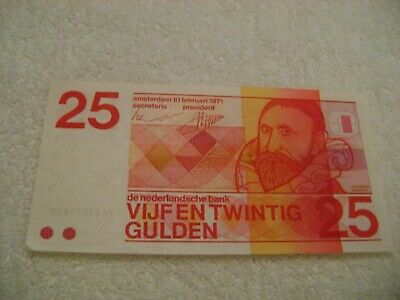 NETHERLANDS-(-1971-)-25 GULDEN-Banknote-UNCIRCULATED