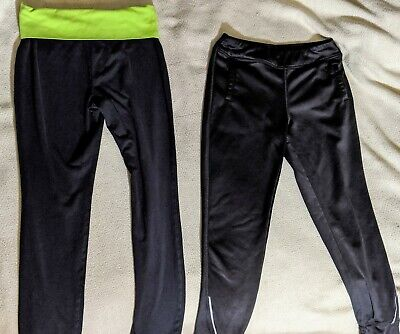Girls Leggings Lot of 2 Black LG 10/12 Danskin