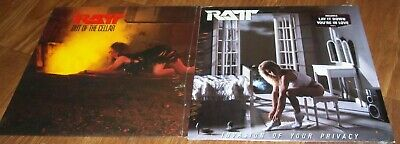 Vintage Ratt vinyl LP record album Out of the Cellar Invasion of Your Privacy