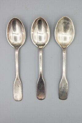 "Hans Hansen Susanne Sterling Silver Teaspoon / Small Spoon – 5 1/4"" – Set of 3"