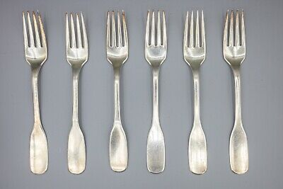 "Hans Hansen Susanne Sterling Silver Luncheon / Salad Fork – 6 1/2"" – Set of 6"