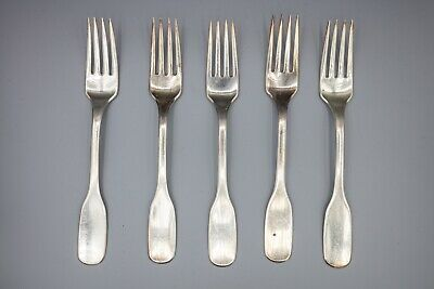 "Hans Hansen Susanne Sterling Silver Dinner Fork, Denmark – 7 1/8"" – Set of 5"