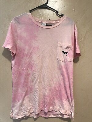 Victoria/'s Secret PINK Tie Dye RUCHED SIDE TEE XS-L NWT