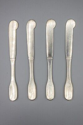 "Hans Hansen Susanne Sterling Silver Butter Spreader Knife – 6 1/8"" – Set of 4"