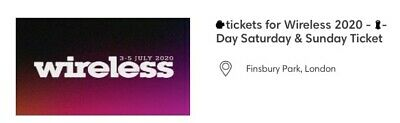 Wireless Festival 2020 Multi-Day Tickets (Saturday And Sunday)