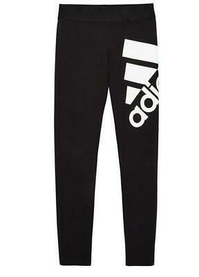 Girls Adidas Badge Of Sport Leggings Black  Ages  4-8   Bnwt  Rrp £20  Last 3