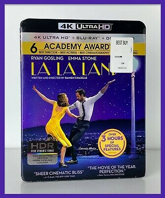 La La Land (4K UHD + Blu-ray, 2017) With Slipcover