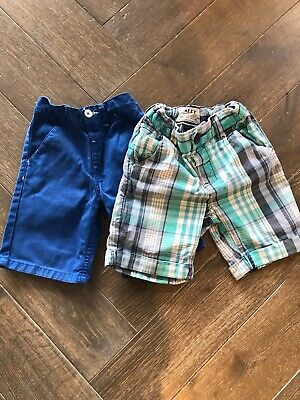 Two Pairs Boys Shorts Age 3-4 Next And Mothercare VGC