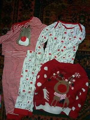 12-18 Month Christmas Jumper Outfit Bundle Girls Boys Unisex
