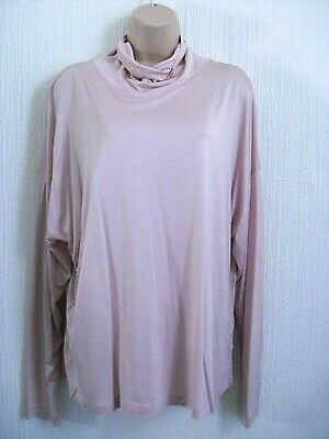 """""""Marks & Spencer"""" Ladies Long Sleeve Melba Blush  Top Size 18 Bnwt Cost £15 Nwt"""