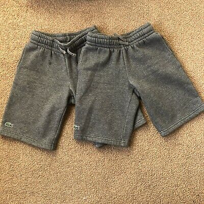 Boys Lacoste 2 Pairs Of Shorts Age 4