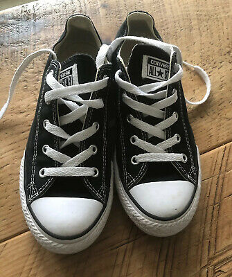 CONVERSE All Star Trainers Black Size 2 Ex Con