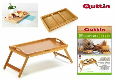 Bamboo Foldable BED sofa breakfast laptop table 50X30CM QUTTIN