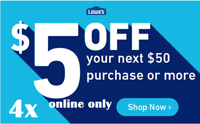 LOOK!!!! ONE (1X) Lowes 10% percent off 1coupon IN STORE ONLY!!! Exp 7days