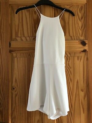 Ladies I Saw It First Cream Playsuit Size 8