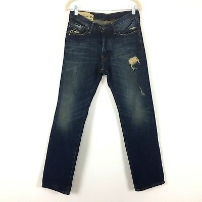 Abercrombie Fitch NY Boys Rollins Jeans Size 16 Low Rise Straight Leg Denim Teen