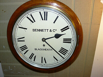 Bennett & Co early fusee dial large wall clock