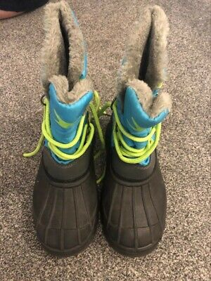 Kids Blue & Yellow Snow Boots - Size 13