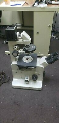 Nikon Diaphot w/ELWD 0.3 Phase Contrast Inverted Research Microscope +objectives