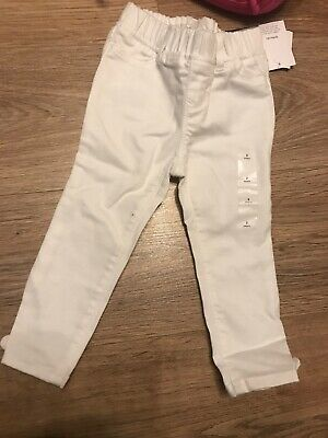 New Baby Gap Age 2 Toddler Girl White Cheap Leggings Jeans Cheap Clothes