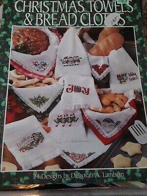 Leisure Arts Leaflet CHRISTMAS TOWELS AND BREAD CLOTHS