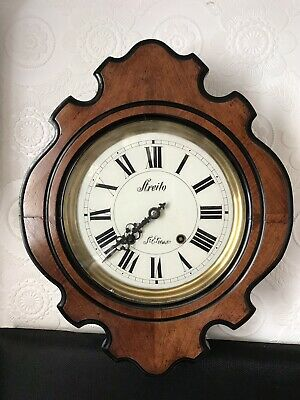 Stunning Rare French Vinvard Clock With A Glass Dial And A Birdcage Movement