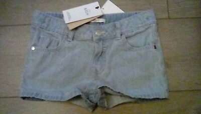 Girls M&S kids collection denim light shorts adjustable waist age 6-7 years tags
