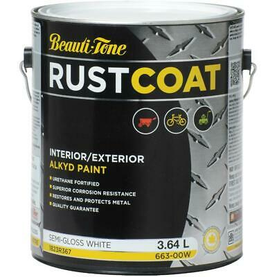 3.64L White Base Semi Gloss Alkyd Rust Paint