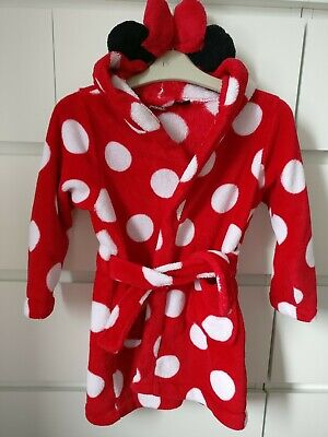 MINNIE___red dressing gown girl age 3-4 yrs VGC