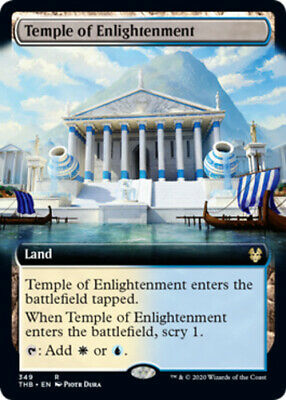 x1 Temple of Enlightenment - Foil - Extended Art MTG Theros Beyond Death R M/NM,