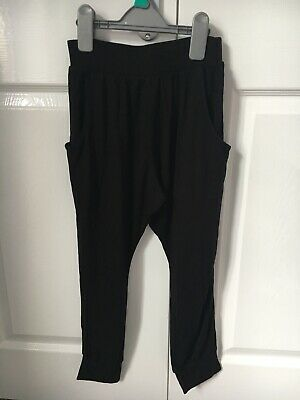 BNWT Girls Black Harem Style Baggy Trousers Age 7yrs From NEXT