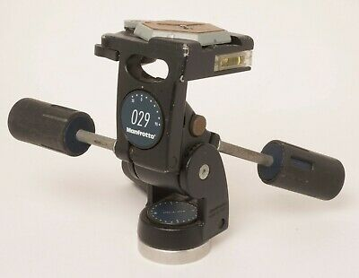 Manfrotto 029 3-way Tripod Pan head + quick release plate - Used Ideal for 4x5