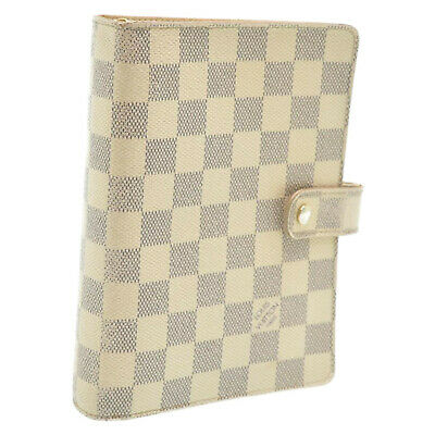 LOUIS VUITTON Damier Azur Agenda MM Day Planner Cover R20707 LV Auth 6986