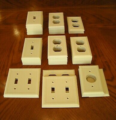 60 Vintage Switch And Outlet Plates Ivory Color