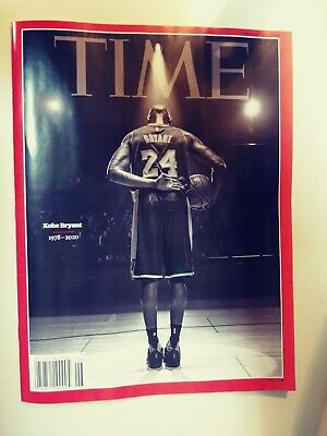Kobe Bryant 1978-2020 Time Magazine February Newsstand Copy Bag and Boarded