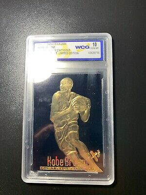 Graded Gem-Mint 10 KOBE BRYANT 1996 Skybox 23K Black Gold ROOKIE Card READ BIO