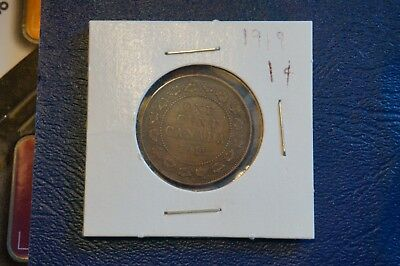 A-154 1919 Canada 1 Cent George V Canadian Penny Copper Coin RCM Large Cent