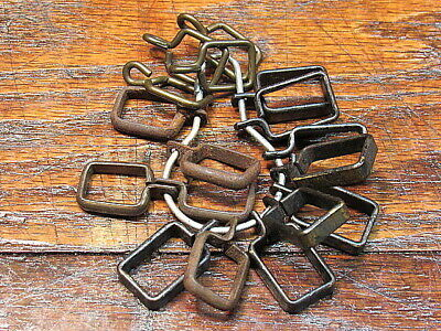 17 Vintage Metal Cafe Curtain Rod Clips Rings Hardware