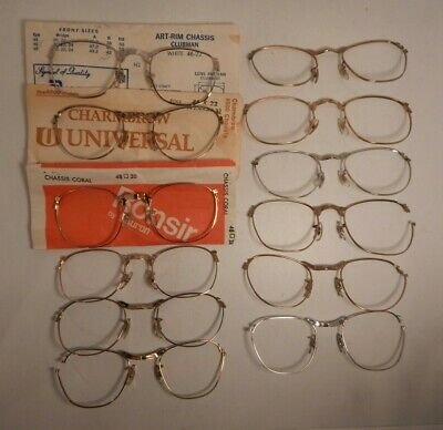 Vintage 12 Pc. Lot Combo Chassis Parts Only Eyeglass Frame New Old Stock #290