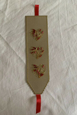 Vintage Embroidered Handmade Bookmark