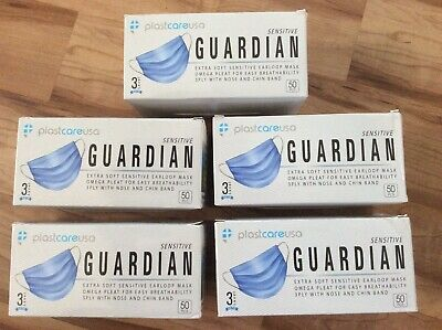 Surgical face mask 5 Boxes of 50 ,MEDICAL. ASTM  LEVEL  3 , ear loop face masks